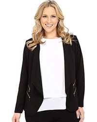 Calvin Klein - Plus-size Open Jacket With 4 Zippers - Lyst