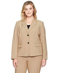 Nine West - Plus Size 2 Button Notch Collar Bi Stretch Jacket - Lyst