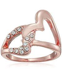 Guess - Interlocking Heart Ring - Lyst