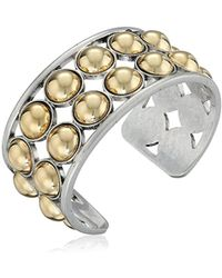 Kenneth Cole - Metal Spheres Two Tone Ball Cuff Bracelet - Lyst