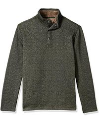 G.H. Bass & Co. - . Madawaska Button Mock Long Sleeve Fleece - Lyst
