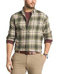 G.H.BASS - Long Sleeve Fireside Plaid Flannel Shirt - Lyst