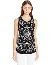 Lucky Brand - Embriodered Eyelet Tank Top - Lyst