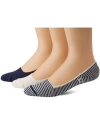 Sperry Top-Sider - Skimmers Feed Stripe Liner Socks Three-pack - Lyst