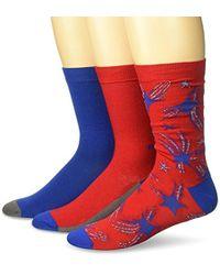 DIESEL - Ray Three Pack Star Socks - Lyst