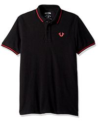 22b99ecc True Religion Crafted With Pride Polo Shirt in Black for Men - Save ...