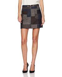 BCBGMAXAZRIA - Mollee Woven Patchwork Mini Skirt - Lyst