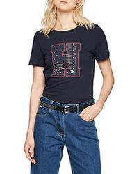 Tommy Hilfiger - Ailia H-prt Tee Ss T-shirt, Blue , 8 (manufacturer Size: X-small) - Lyst