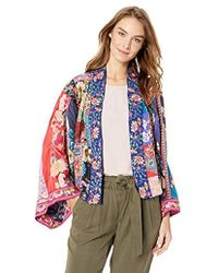 Johnny Was - Cropped Embroidered Kimono - Lyst