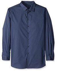 Perry Ellis - Big And Tall Broken Octagon Stripe Shirt - Lyst