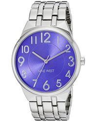 Nine West - Nw/1757pesb Easy To Read Blue Dial Silver-tone Bracelet Watch - Lyst