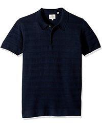 Ben Sherman - Textured Stripe Knit Polo - Lyst