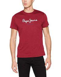Pepe Jeans - Herren T-Shirt Eggo V - Lyst