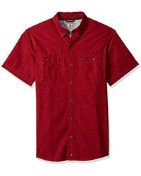 G.H. Bass & Co. - Rock River Textured Solid Crosshatch Short Sleeve Shirt - Lyst