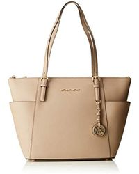 3e7f5e67eac1 Michael Kors Michael By Jet Set Item Truffle Top Zip Tote in Gray - Lyst