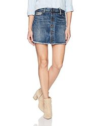 True Religion - Steph Hem Mini Skirt - Lyst