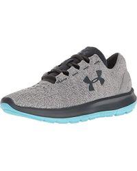 Under Armour - Speedform Slingride Tri Running Shoe, Overcast Glacier Gray/marlin Blue - Lyst