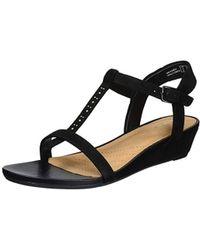 Clarks - Parram Blanc Wedge Heels Sandals - Lyst