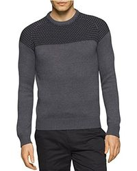 CALVIN KLEIN 205W39NYC - Mixed Guage Crew Neck Sweater - Lyst