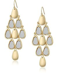 Guess - Metallic Metals Drop Earrings - Lyst