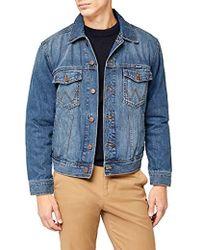 4cf31088 Wrangler - Western Denim Jacket Mid Stone Jacket - Lyst