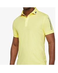 Lyst - J.Lindeberg Tour Tech Tx Jersey Polo Shirt in Yellow for Men 2ed1364be1