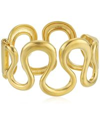 Trina Turk - Gold Rush Wavy Metal Cuff Bracelet - Lyst