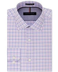 Tommy Hilfiger - Non Iron Regular Fit Windowpane Spread Collar Dress Shirt - Lyst