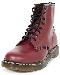 95d9525e8 Dr. Martens Unisex 1460 8-tie Lace-up Boot in Red - Lyst