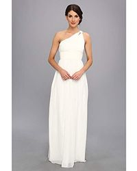 Donna Morgan - One Shoulder Strapless Gown - Rachel - Lyst