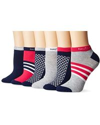 Nautica - Box Texture 6pp Fashion No Show Socks - Lyst
