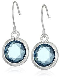 "Anne Klein - ""beacon"" Drop Earrings - Lyst"