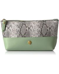 Anne Klein - Mixed Snake Small Carryall Cosmetic Case - Lyst