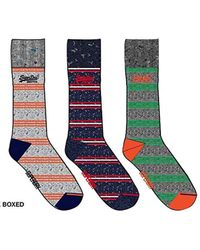 Superdry - 's City Sock Triple Pack Boxed Sports - Lyst