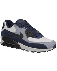 a0f0963c4f Lyst - Nike Air Max 90 Leather Running Shoe in Blue for Men
