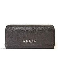 Guess Eileen Slg Pocket Trifold Stone in White Lyst