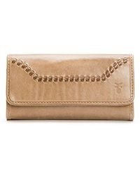 Frye - Melissa Continental Whipstitch Snap Wallet - Lyst