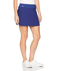 Lacoste - Light Technical Woven Pleated Skirt - Lyst