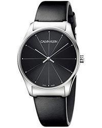 Calvin Klein - Reloj Analógico para Mujer de Cuarzo con Correa en Cuero K4D211CY - Lyst
