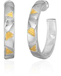Gurhan - Century Sterling Silver Sculptural Hoop Earrings - Lyst
