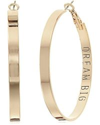 BCBGeneration - Bcbg Generation With Dream Big Inscription Hoop Earrings - Lyst