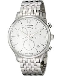 Tissot - T0636171103700 Tradition Analog Display Swiss Quartz Silver Watch - Lyst