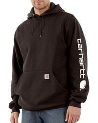 Carhartt - Signature Sleeve Logo Midweight Hooded Sweatshirt K288 - Lyst
