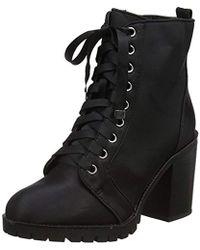 Miss Selfridge - Lace Ankle Boots - Lyst