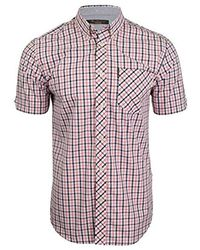 Ben Sherman S House Check Shirt By Short Sleeved - Pink