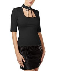 Guess - Half Sleeve Irene Lace Up Top - Lyst