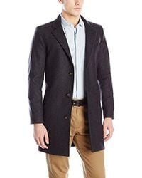 Nautica - 3 Button Wool Blend 37 Inch Topcoat - Lyst
