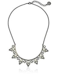 "BCBGeneration - Pearl And Metal Frontal Necklace, 18"" - Lyst"
