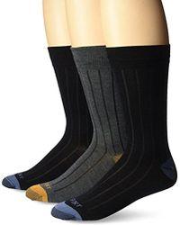 Rockport - Basic Ribbed Crew Sock, Black/charcoal/black Assorted, Sock Size:10-13/shoe Size: 6-12 - Lyst