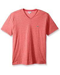 Lacoste - Fine Stripe Short Sleeve T-shirt, Th6810 - Lyst